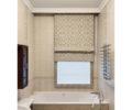 Двойная римская штора в ванной 02