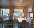Римские шторы в деревянном доме 02