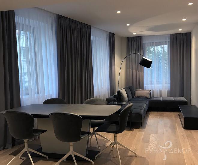 Современный минимализм в Московских апартаментах 01